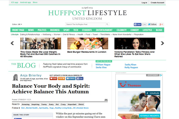 Balance Your Body and Spirit: Achieve Balance This Autumn – www.huffingtonpost.co.uk