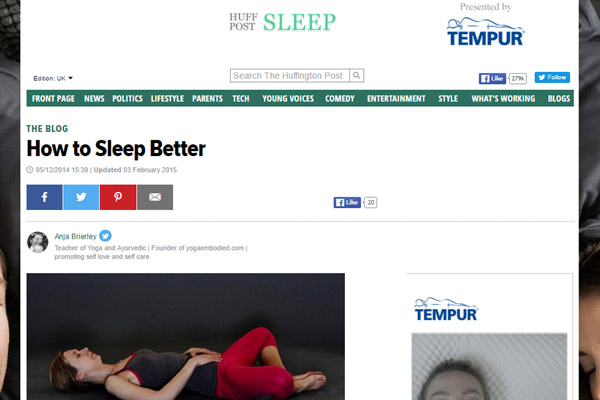 How to Sleep Better – www.huffingtonpost.co.uk